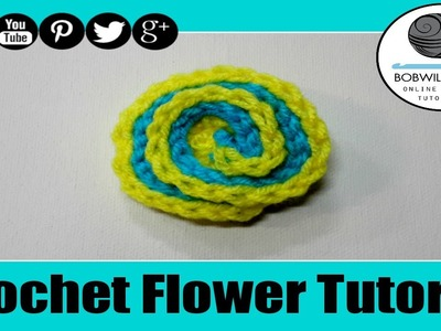 Easy Spiral Flower Crochet Tutorial - Slip Stitch