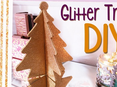 Glitter Christmas Tree DIY ♡ Holiday Home Decor DIY ♡ aLoveTart