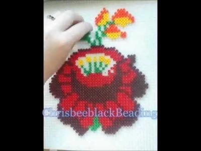 Hama Beads: Rose (Kalocsai Himzes)