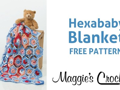 Hexababy Afghan Free Crochet Pattern - Right Handed