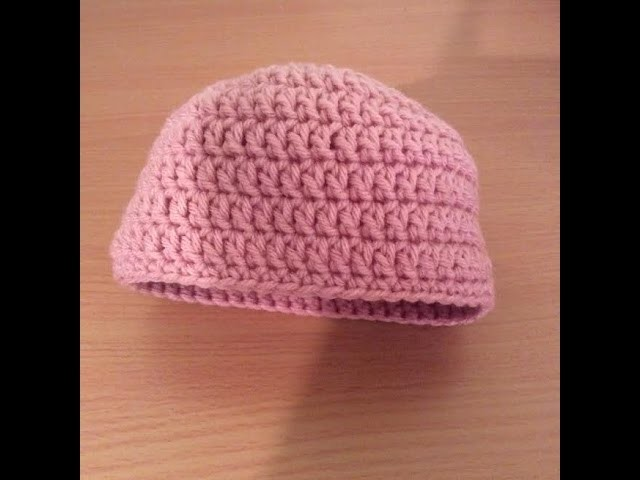 How To Crochet A Simple Newborn Beanie Tutorial