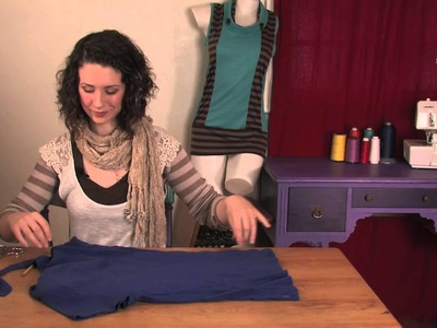 How to Cut a Boatneck Out of a Shirt : DIY Shirt Designs