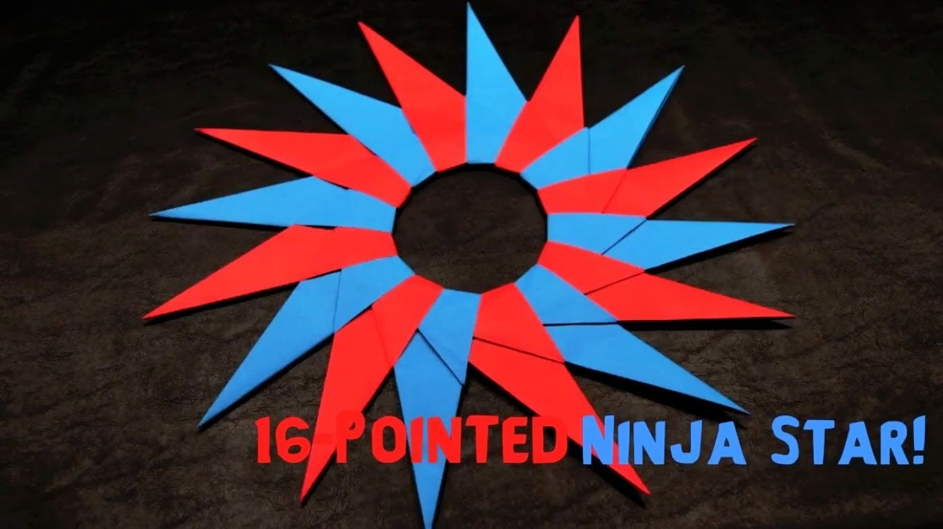 How to Make a 16-Pointed Ninja Star (Shuriken)
