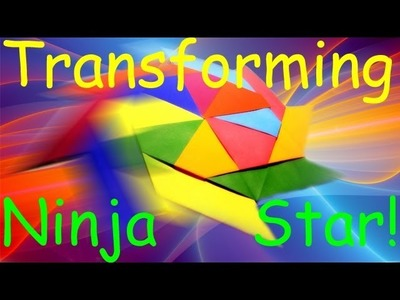 How to Make a Paper(Origami) - Transforming Ninja Star (Shuriken) (8-Pointed)!