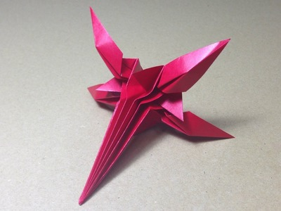 How to Make a Paper Space Fighter. Origami X-Wing Star Fighter