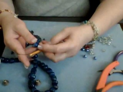 How To Make a Wire Crochet Necklace Part 3