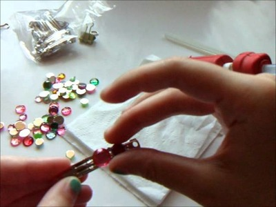 How to Make Accessories: Jeweled Barrette