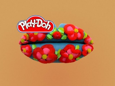 How to make Play Doh Floral Lip Art  Play-Doh Craft N Toys
