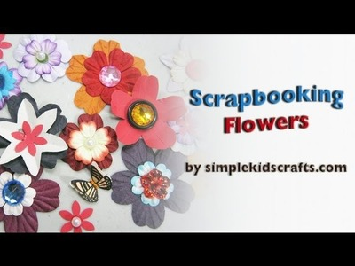 How to make scrapbooking embelishments flowers - EP