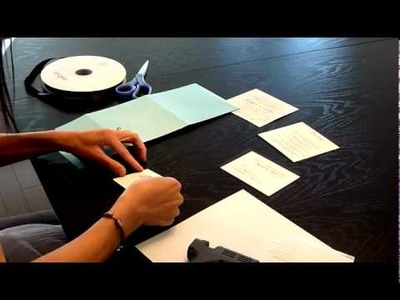 Inspired Brides - DIY Wedding Invitations - Kit Assembly