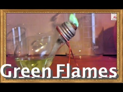 Make a lamp out of a lightbulb, with GREEN FLAMES!