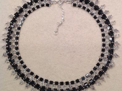 Mega Tila Sparkle Necklace Tutorial