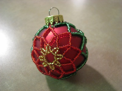 Miniture Poinsettia Ornament