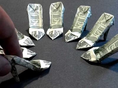 Money Origami High Heels - Dollar Bill Art
