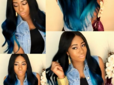 Owigs Review + DIY:Blue Ombre Hair Tutorial