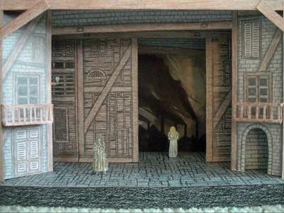 Paper Model of Les Misérables the Musical (National Tour Stage Set Design)