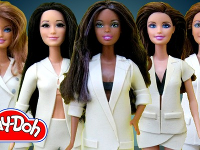 Play Doh Barbie Dolls Costume Makeover from Fifth Harmony BO$$ Play-Doh Craft N Toys