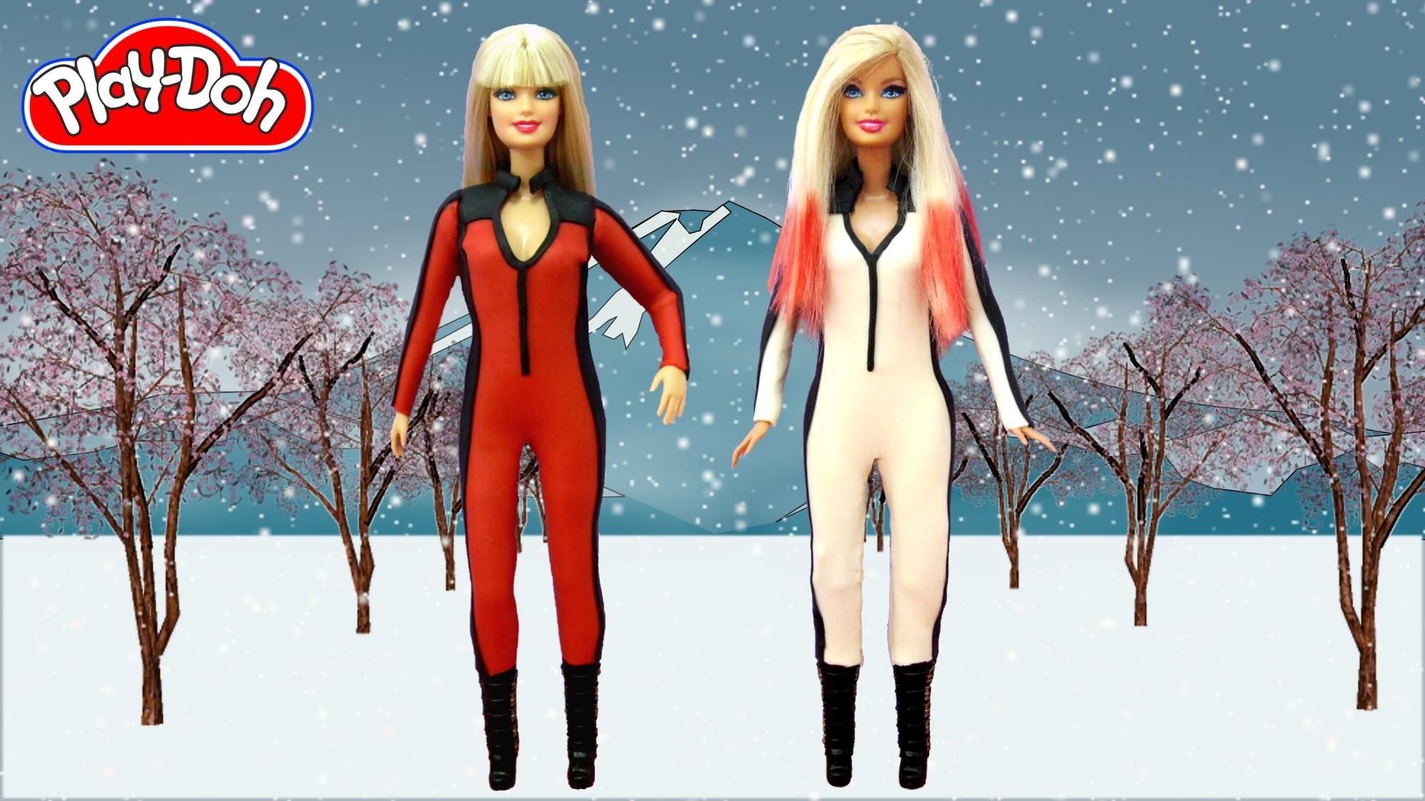 Play Doh Barbie Dolls Costume Iggy Azalea - Black Widow ft. Rita Ora Makeover Play-Doh Craft N Toys