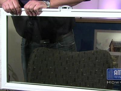 Re-seating the glazing bead on a vinyl window