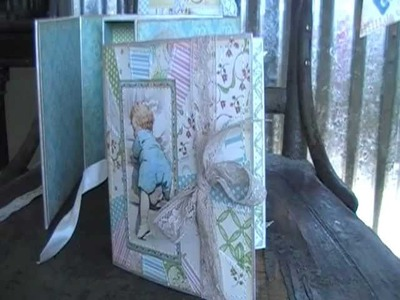 Scrapbook Mini Little Darlings Altered Box 5x5 Graphic 45 by Sew Scrappin Id Amy
