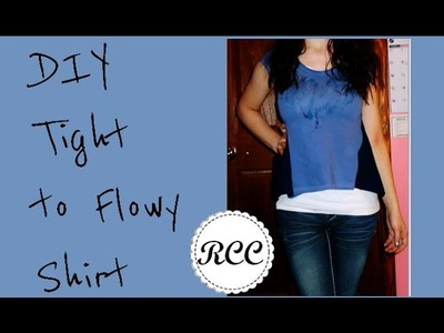 Tight to Flowy Shirt Sewing Tutorial, DIY