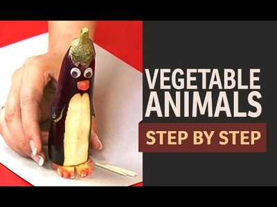 Vegetable Art - Penguins, Sheep and Lady Bugs (English)