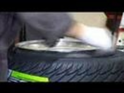 Beading a stretched tyre or tire using a bicycle tube