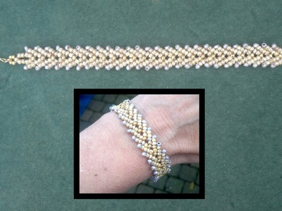 Beading4perfectionists : Stitch nr 11: Basic St. Petersburg, single and double row beading tutorial