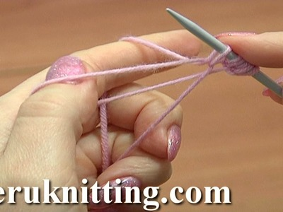 Cast-On Stitches On One Needle Tutorial 1 Method 11 of 18 Two-Strand Cast On