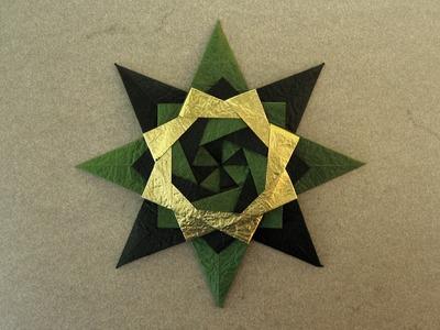 Christmas Origami Instructions: Braided Corona Star (Maria Sinayskaya)