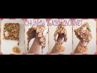 Crochet: How to Crochet chunky baby bonnet