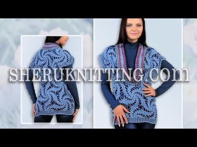 Crochet Motif Deep Neckline Vest Model 19