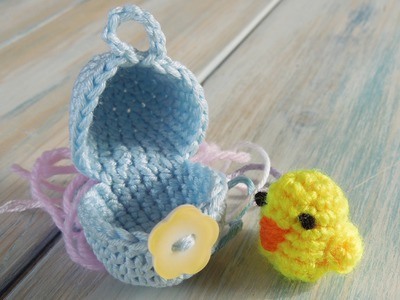(crochet - part 1 of 2) How To Crochet a Mini Chick & Egg - Yarn Scrap Friday