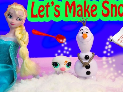 Disney Queen Elsa Frozen Make Your Own SNOW Fun Craft Set Kit Science Kids Playset Toy Unboxing
