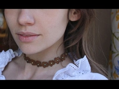 DIY| 90's Flower Choker Necklace
