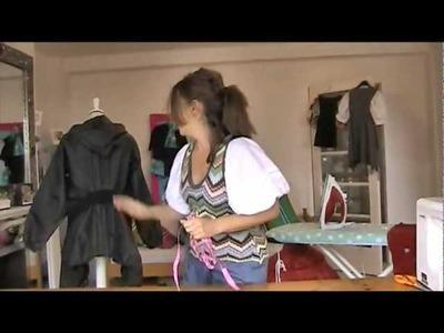 DIY Bomber jacket from wind jacket - PART 1