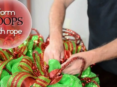 DIY: Deco Mesh Christmas Ball Wreath