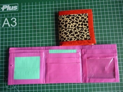 DIY Duct Tape Wallet Trifold With Coin Pouch