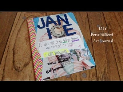 DIY Gift: Personalized Art Journal (Cheap & Easy)