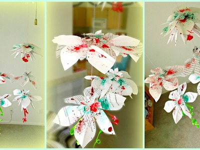*DIY Hanging Flowers Paper Decorations*