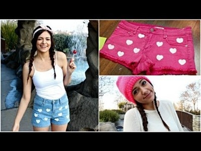 DIY Heart Shorts + Valentine's Day Essentials!