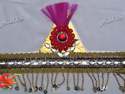 DIY How to make Mukut. Crown. Designer Tiara - JK Arts 154