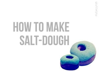 DIY: How to Make Salt-Dough + donut tutorial (polymer.salt-dough)