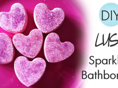 ♡ DIY Lush Sparkly Bathbombs with Glitters! - Valentine's Day Gift Idea! ♡
