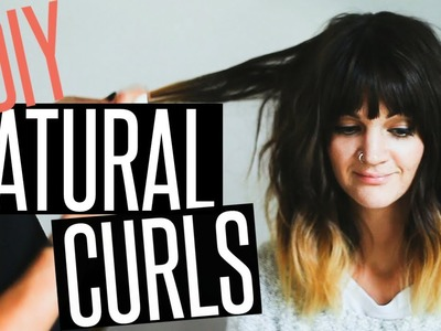 DIY Natural Curls Hair Tutorial