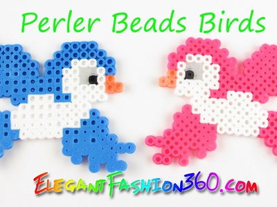 DIY Perler.Hama Beads Birds - How to Tutorial Spring.Animal