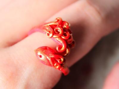 DIY: Phoenix Ring Polymer Clay Tutorial (Collab w. NerdECrafter)