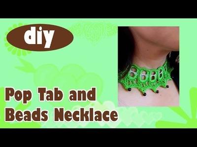 #DIY #PopTabNecklace #Crochet #Beads