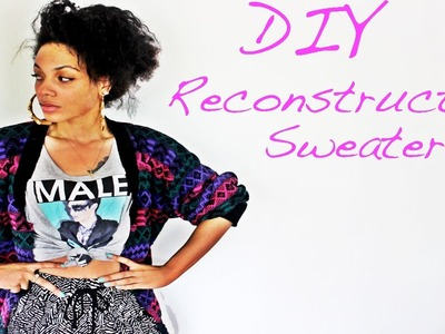 DIY Reconstructed Sweater #DIYGawd