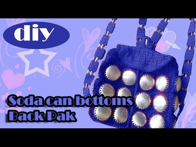 DIY: Recycle Project: Crochet a backpack with aluminum soda can bottoms part 1